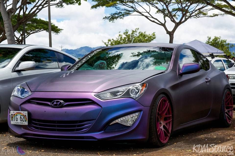 Chameleon Plasti Dipped Hyundai Gensis Coupe