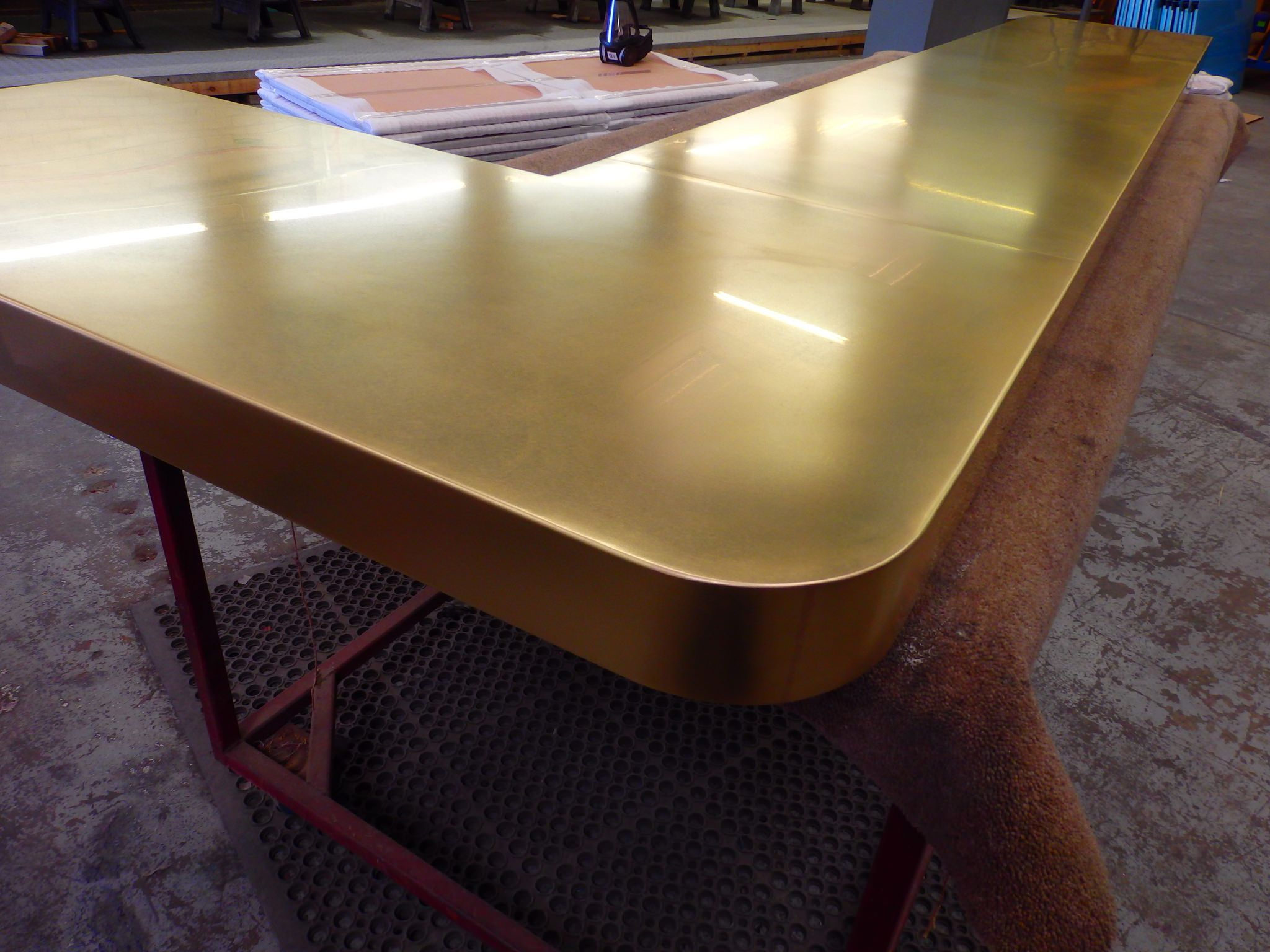 66 brass counter top satin finish satin finish and for Best bar top finish