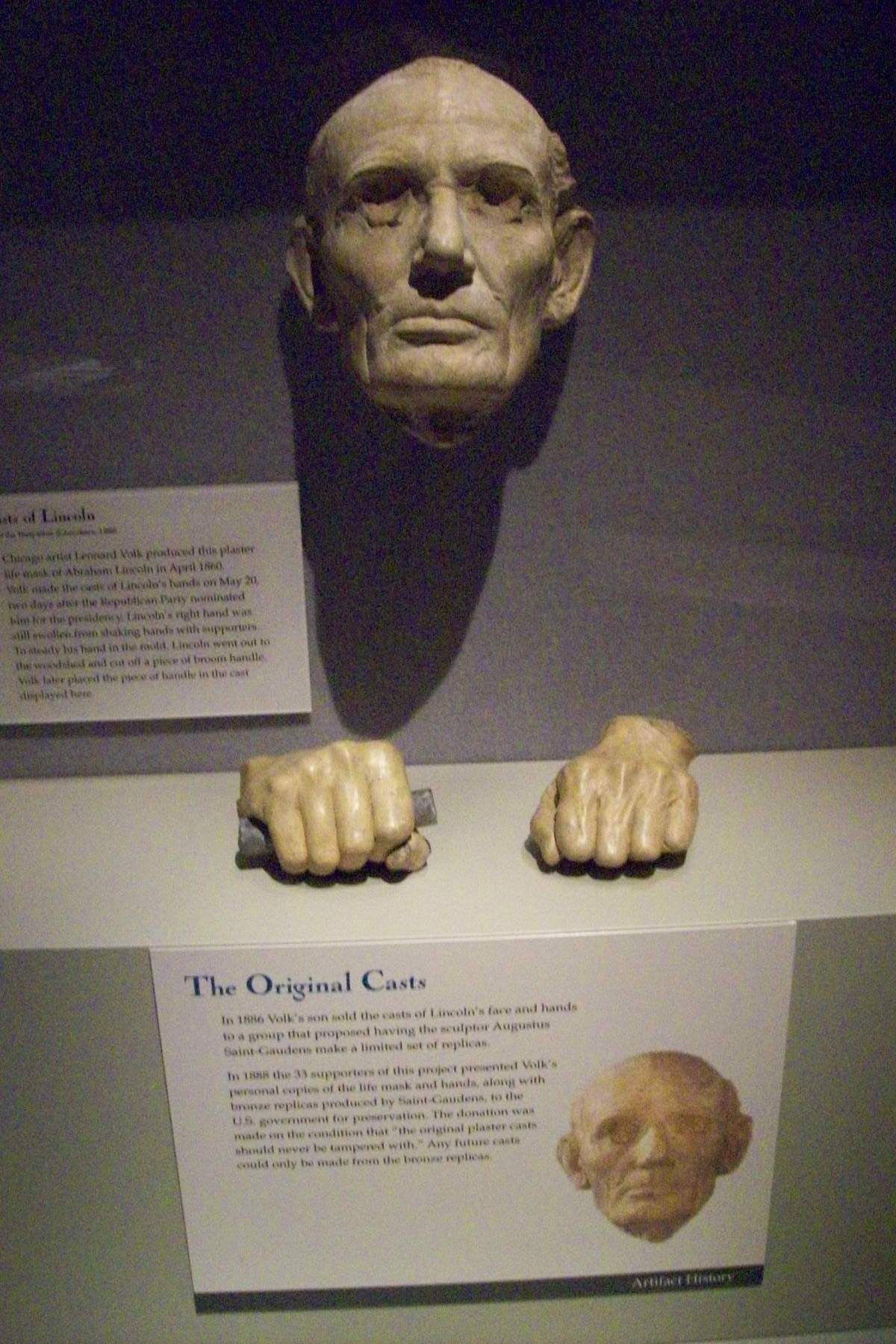 abraham lincoln hands cast