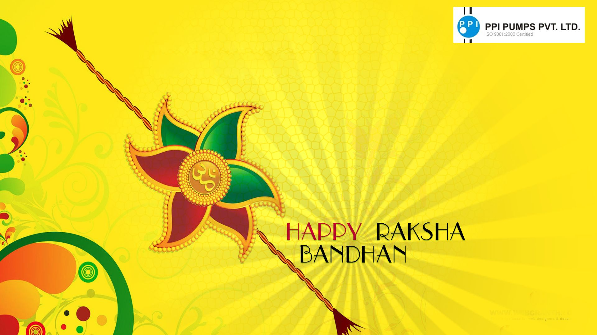 """May this auspicious occasion bring you all the prosperity and good luck in your way of life. """"Happy Raksha Bandhan"""""""