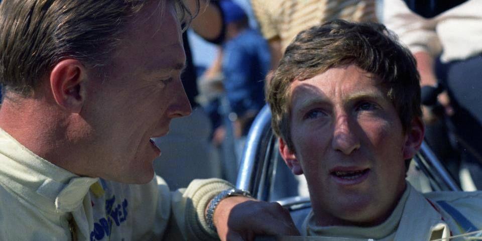 Dan Gurney & Jochen Rindt at Indy 1967.