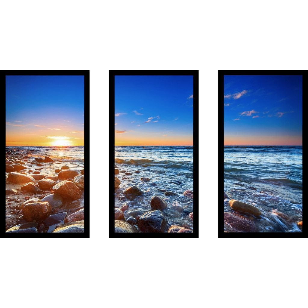 Picture perfect international pebbly beach in rozewie framed picture perfect international pebbly beach in rozewie framed plexiglass wall art set of 3 jeuxipadfo Gallery