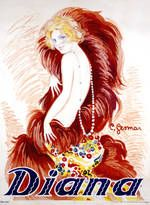 Diana French Cabaret Theater Poster  by Charles Gesmar