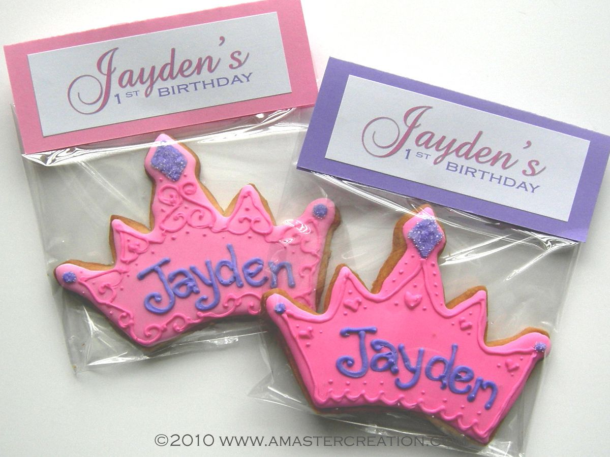 Ways to decorate gift bags - Princess Cookies Goodie Bags Goody Bags For Kids Party Birthday Goodie Bags