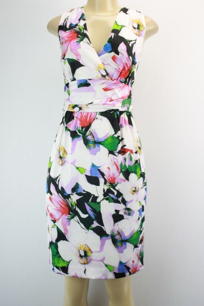 Lauren Ralph Lauren sleeveless dress knee length floral multicolored size 10