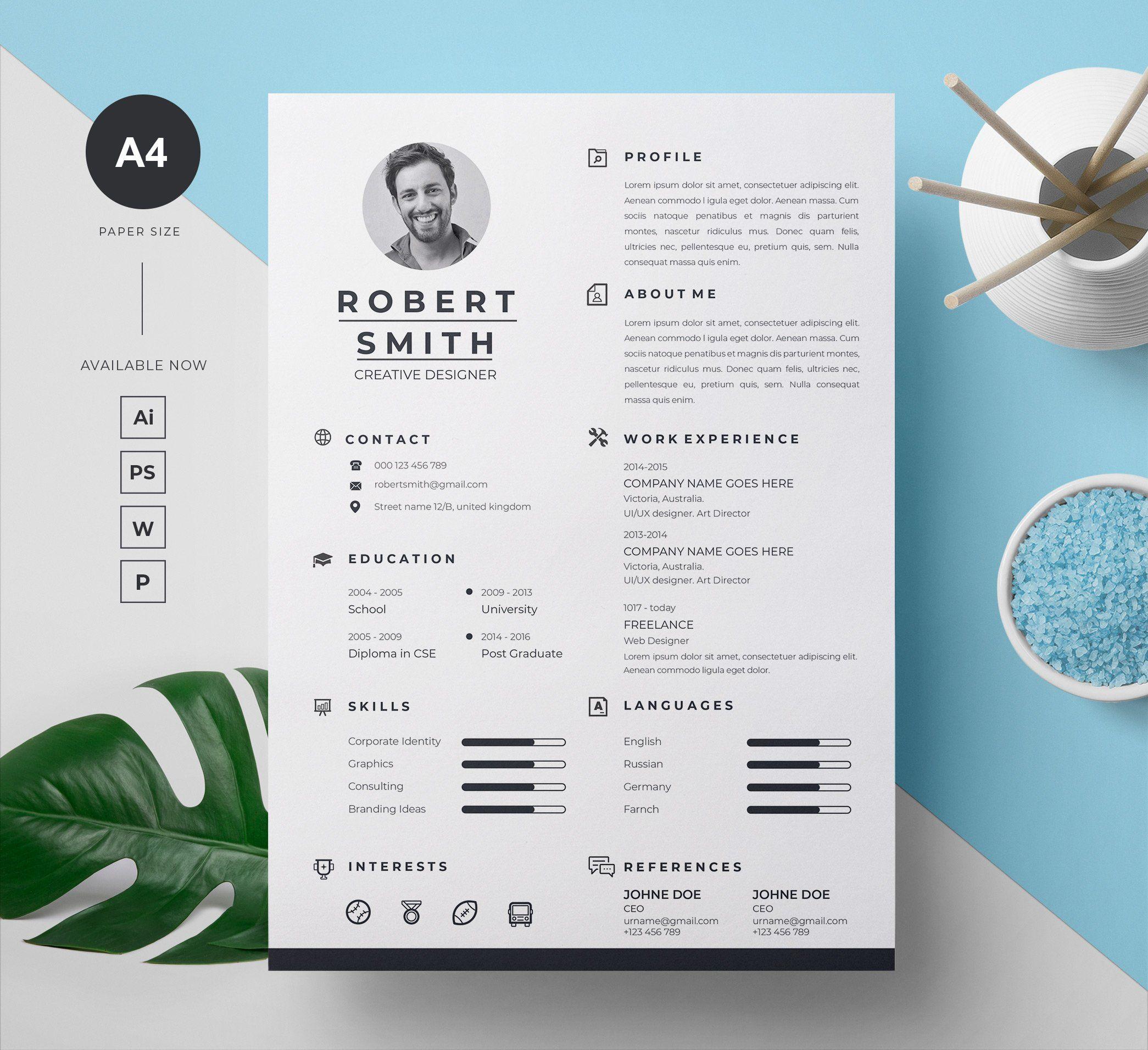 Resume Cover letter template, Resume