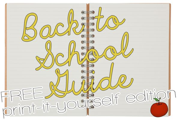 Free (and Cute!) Back-To-School Printables. Not that I'm GOING back to school... but I know some people who love a good organizational binder (@katetx32 @Allison Lee @design  finch)