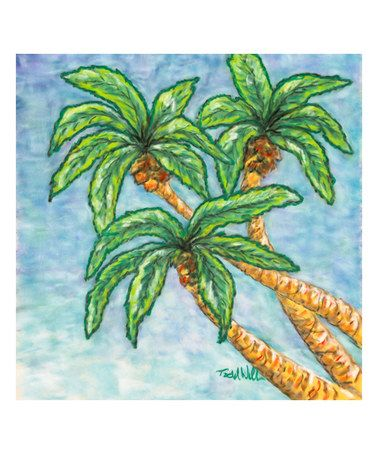 Another great find on #zulily! Palm Trees Wall Art #zulilyfinds