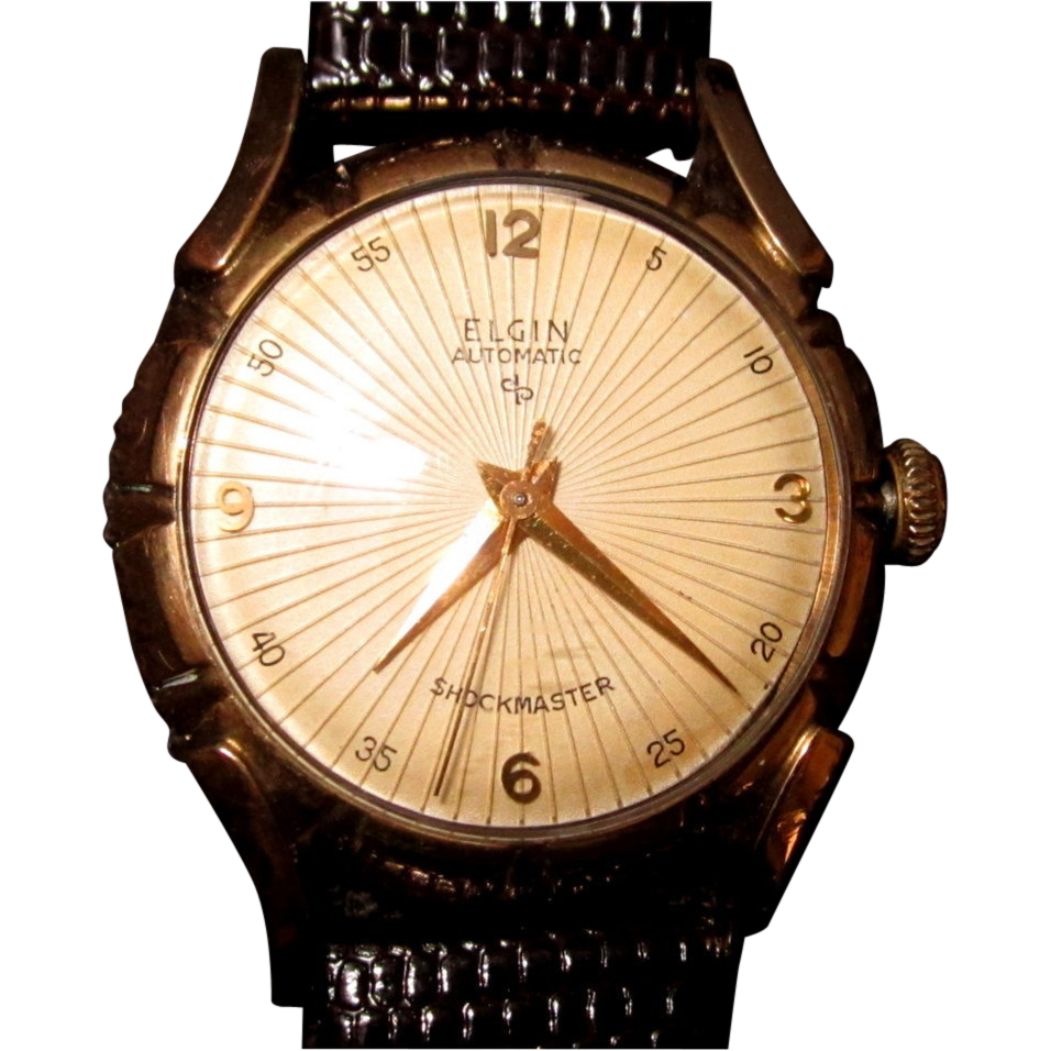 Elgin Watch, Vintage Mens' Self Winding, 1950's Works