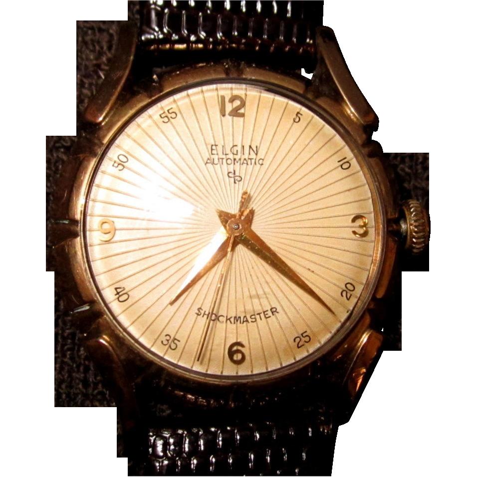 elgin watch vintage mens self winding 1950 s works vintage elgin watch vintage mens self winding 1950 s works