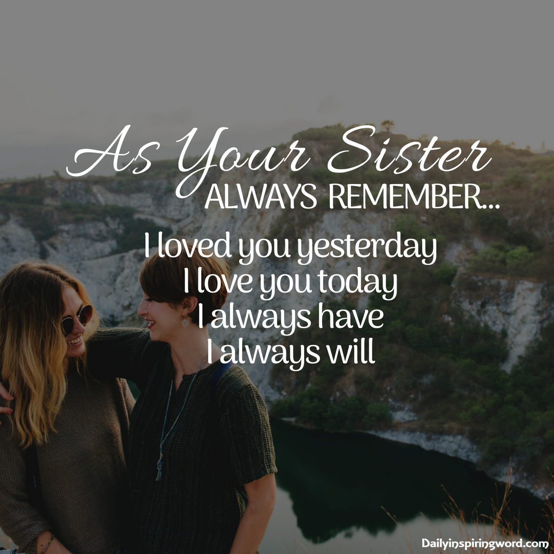 Beautiful sister quotes and sayings to Express your Love  Daily