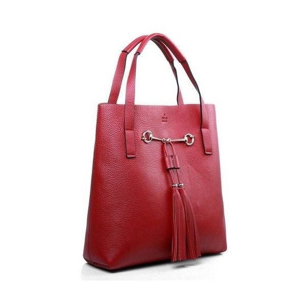 100% top quality Gucci Horsebit Tote Bag 297006 cheap for sale.Free... ($309) via Polyvore