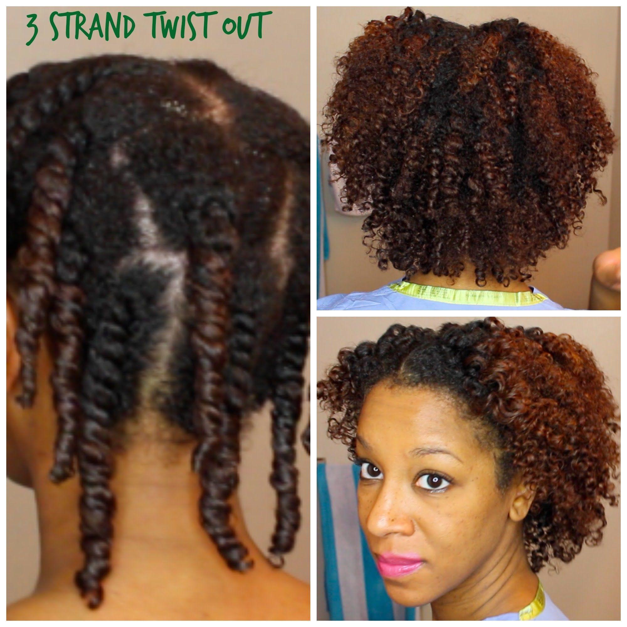 3 Strand Twist Out Heat Damaged Natural Hair Natural Hair