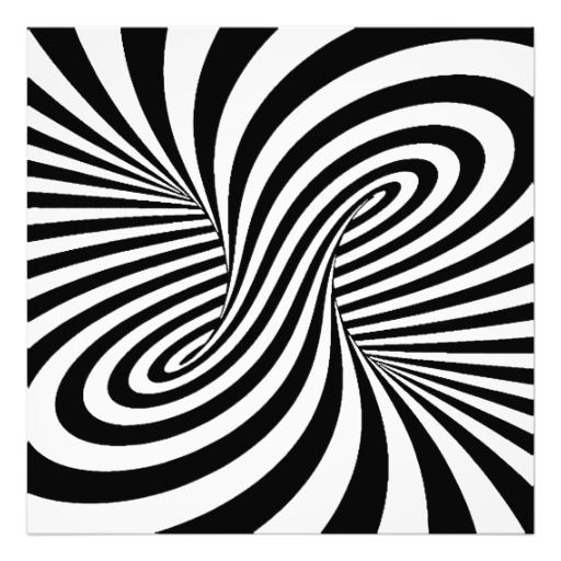Illusion art black white zebra swirls patterns optical illusion photo print