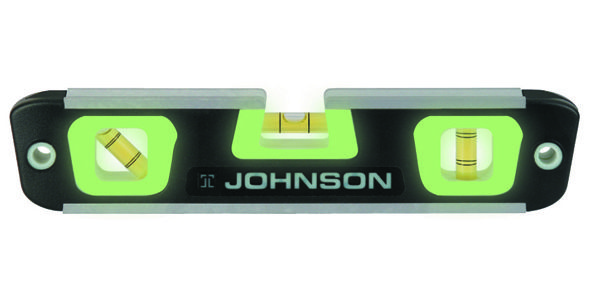Johnson Level 007 10 Magnetic Glo View Torpedo Level Home Depot
