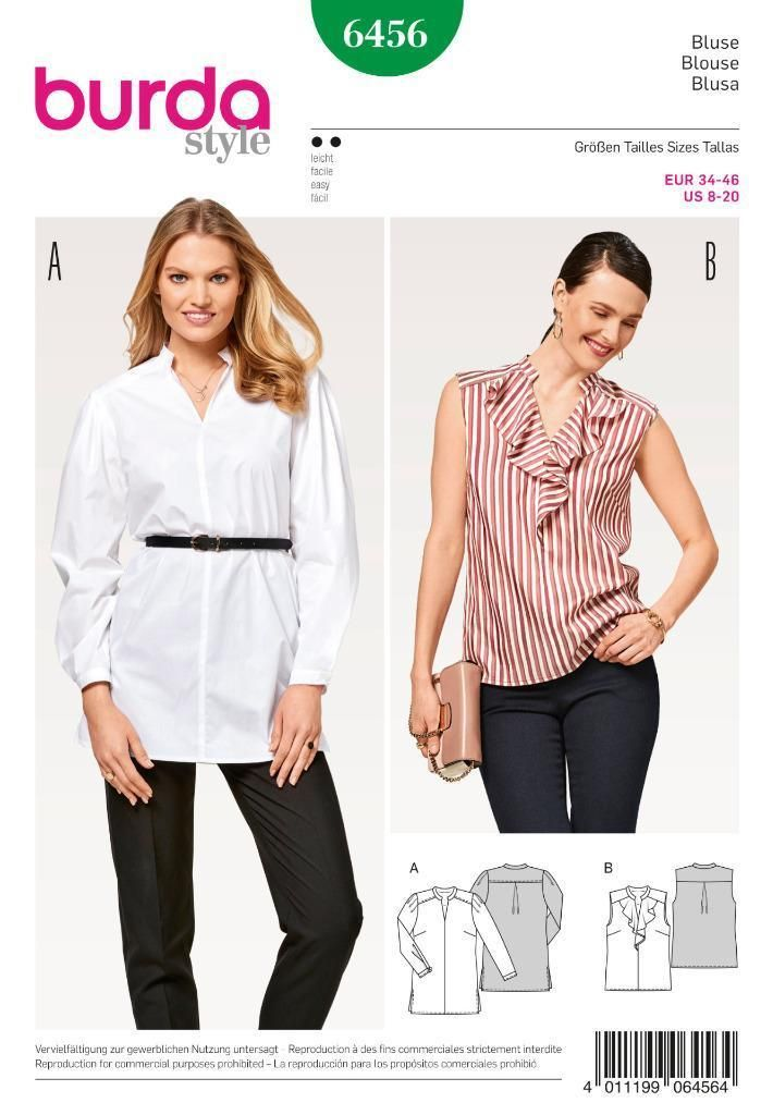 6.95 GBP - Burda Sewing Pattern Women\'s Flounce Blouse Size 8 - 20 ...