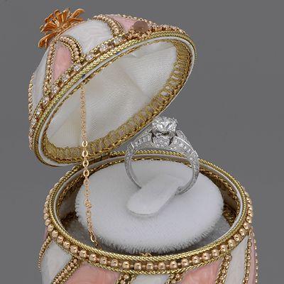 Musical Pink White Engagement Ring Box Jewelry I Like