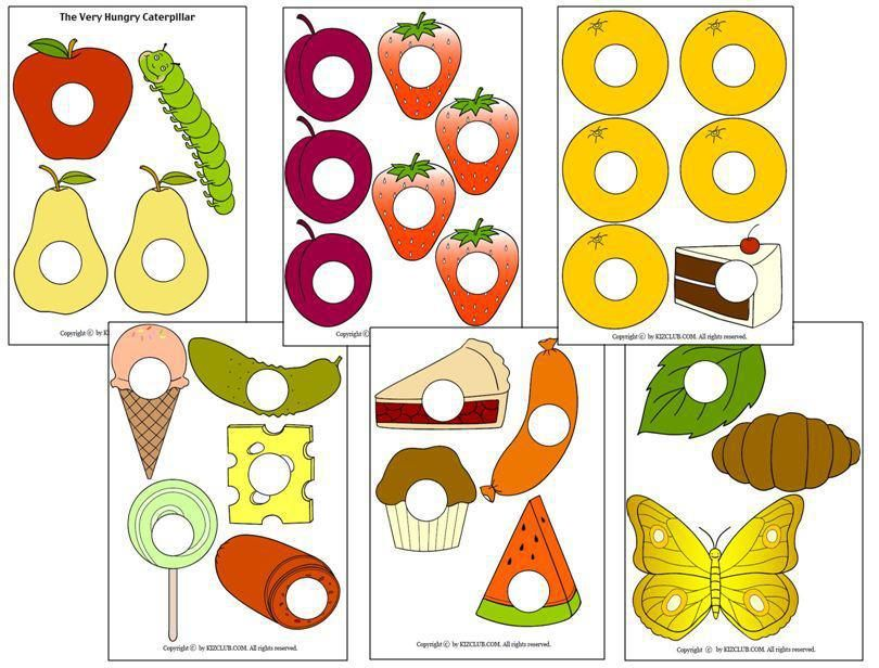 the very hungry caterpillar free printable story
