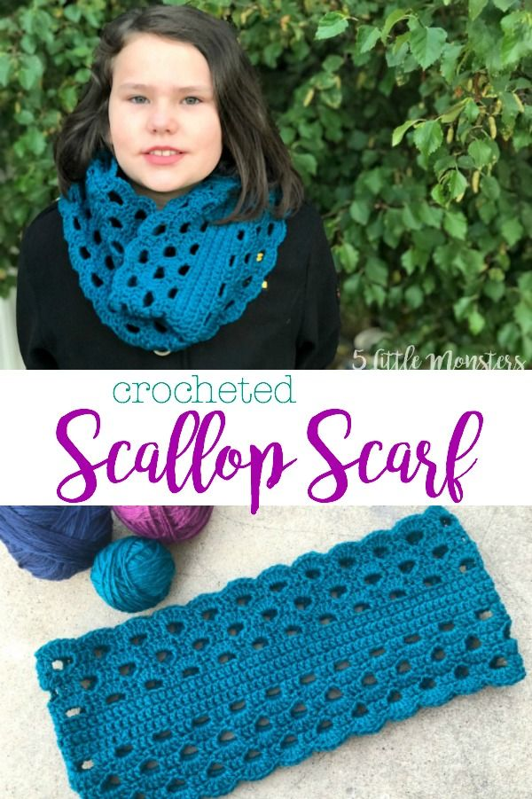 Scallop Scarf Free Easy Crochet Patterns Pinterest Scarves