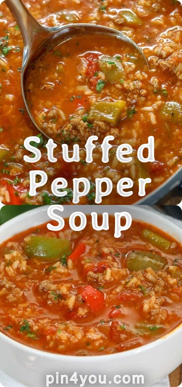 Stuffed Pepper Soup Pin4you Com Stuffed Peppers Stuffed Pepper Soup Stuffed Pepper Soup Crockpot