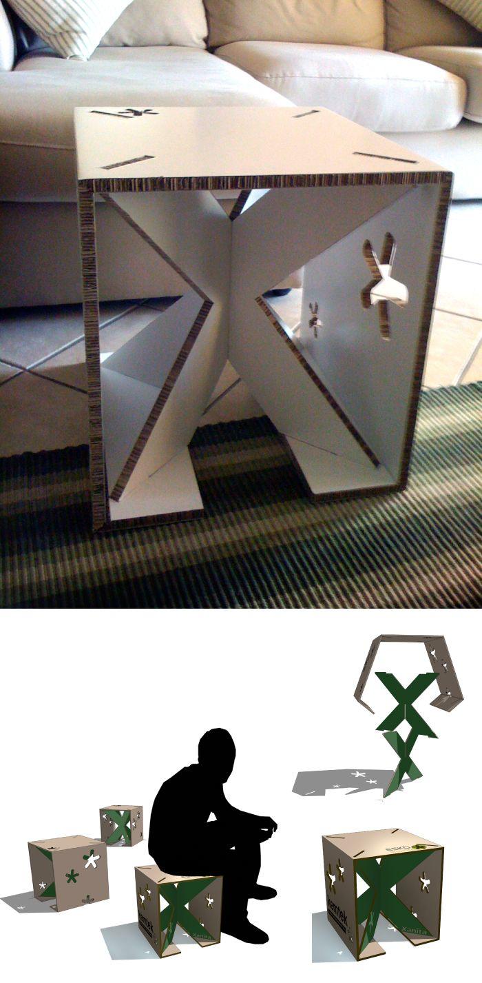 Comfortable cardboard chair designs - Xanita Chair