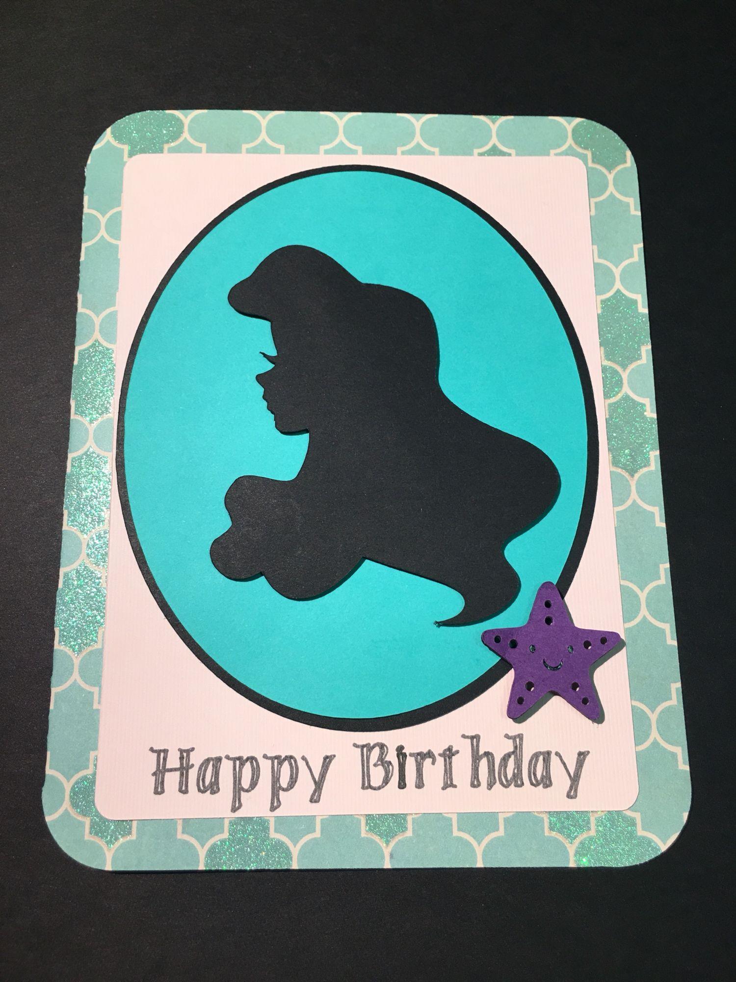 Little Mermaid Ariel birthday card – Ariel Birthday Card