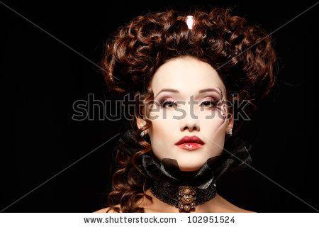 woman beautiful halloween v&ire baroque aristocrat by vita khorzhevska via Shutterstock  sc 1 st  Pinterest & woman beautiful halloween vampire baroque aristocrat by vita ...