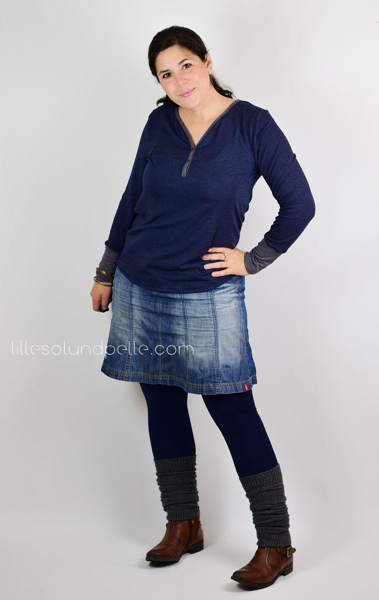 Ebook Schnittmuster Knopfshirt lillesol women Shirt mit Knopfleiste ...
