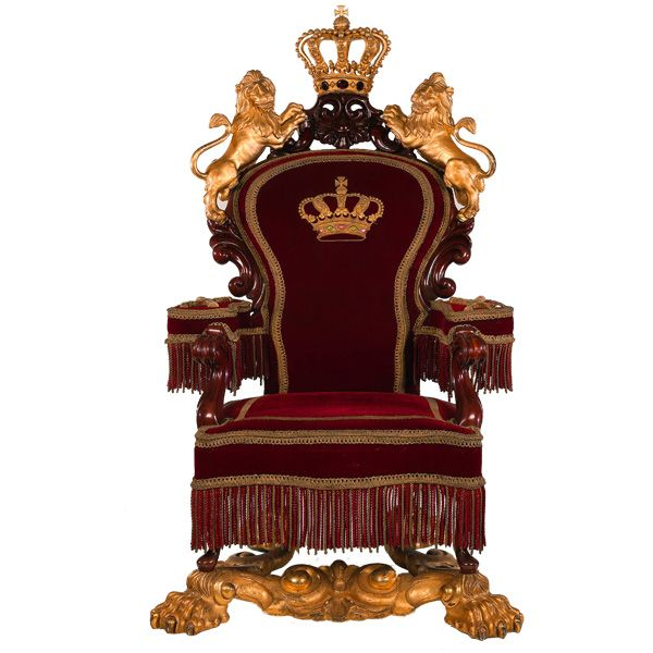 Golden King's Throne with Lions PSD - http://www.welovesolo.com/golden-kings-throne-with-lions-psd/