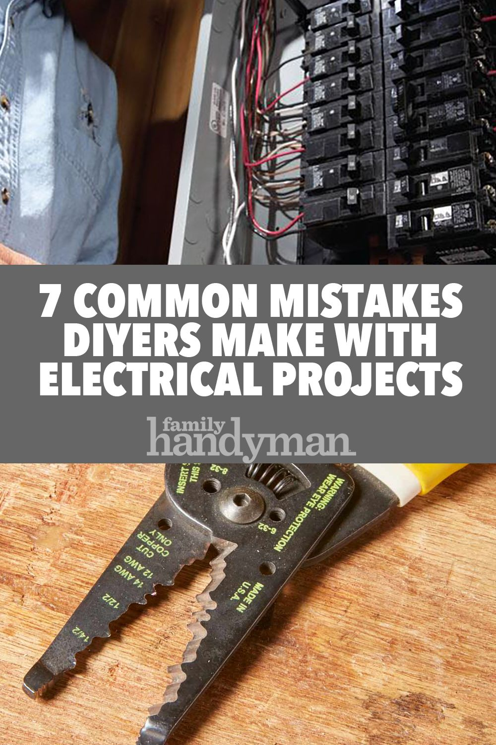 7 Common Mistakes Diyers Make With Electrical Projects Electrical Projects Diy Electrical Electrical Panels