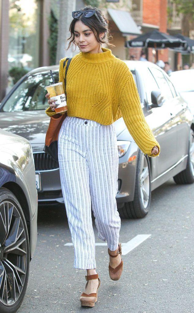 Top Blouse Sweater Yellow Mustard High Neck Crewneck