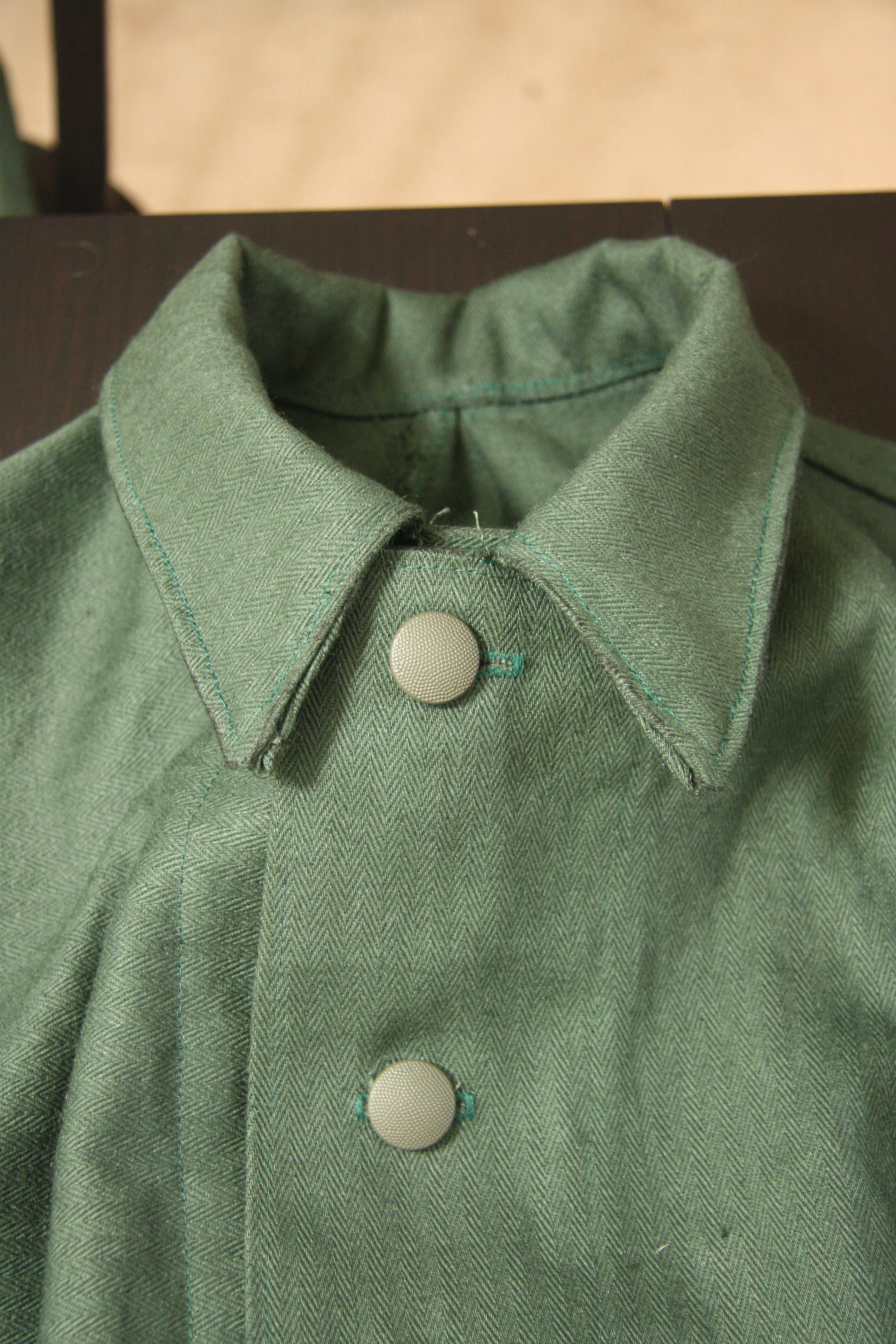 Homemade Drillich and HBT Loaner Tunic projects | WWII Airsoft Association