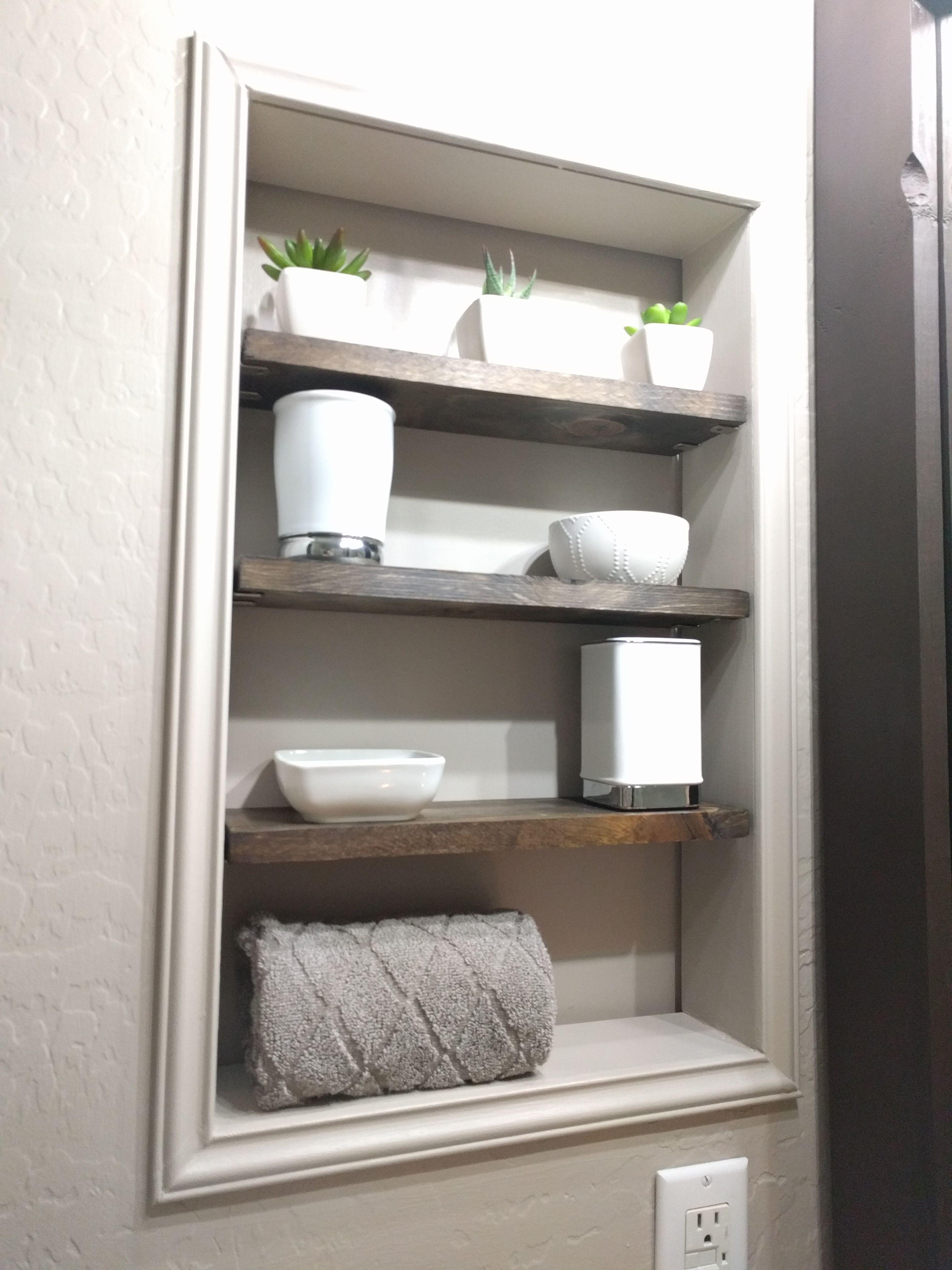 Recessed Shelves Bathroom, Recessed Bathroom Shelving