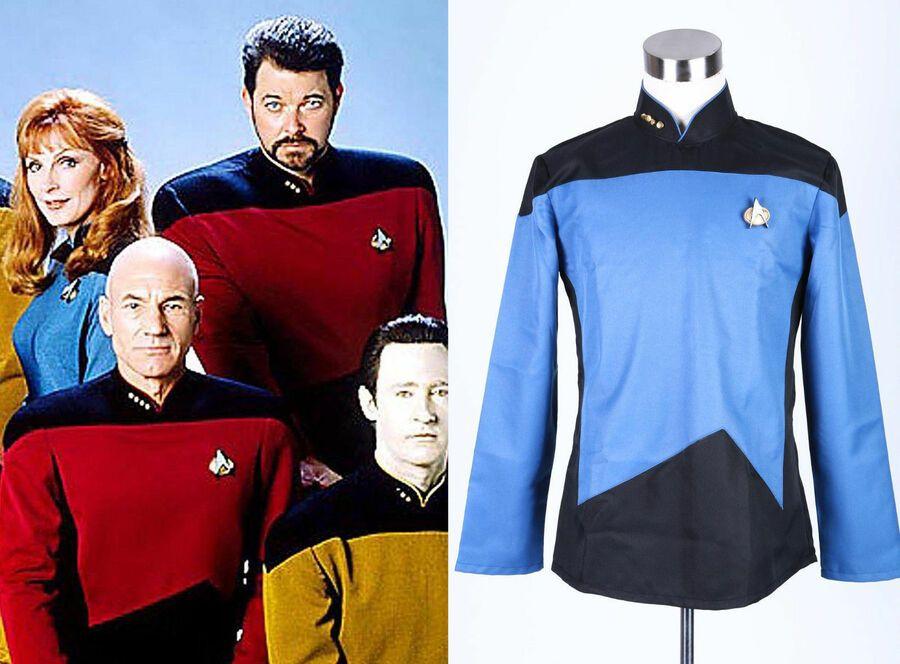 Halloween Cosplay Costume Star Trek TNG The Next Generation Blue Uniform Jacket