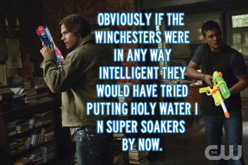 Super soakers.  Come on boys, you need to think about these things! HAHAHAHAHA!!