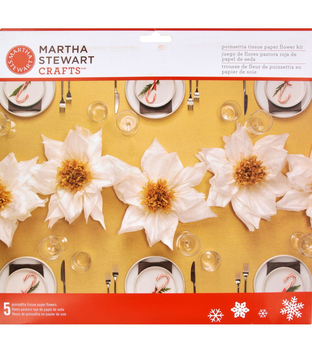 Martha Stewart Crafts Holiday Lodge Tissue Paper Flower Kit Paper