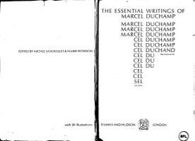 The Essential Writings of Marcel Duchamp   .....