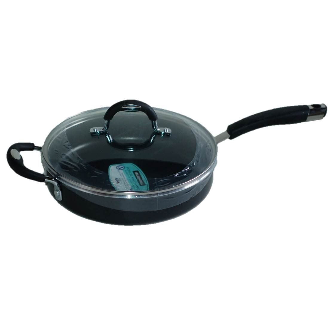 Tramontina 10 Inch Non Stick Skillet Frying Pan With Tempered Glass Lid Black Porcelain Enamel Check Out This Great Image Frying Pan Tempered Glass Pans