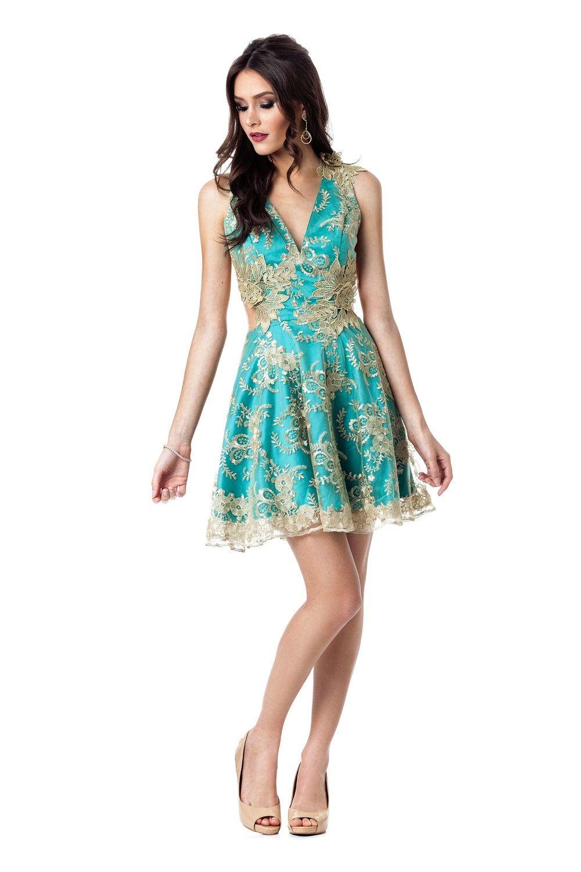 768679855 SAME NO MORE aluguel de vestidos online. Vestido Curto Turks. Marca: Camila  Siqueira
