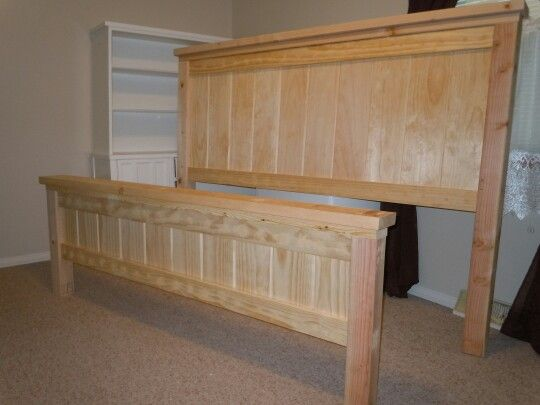 Unfinished Headboard And Footboard King Size
