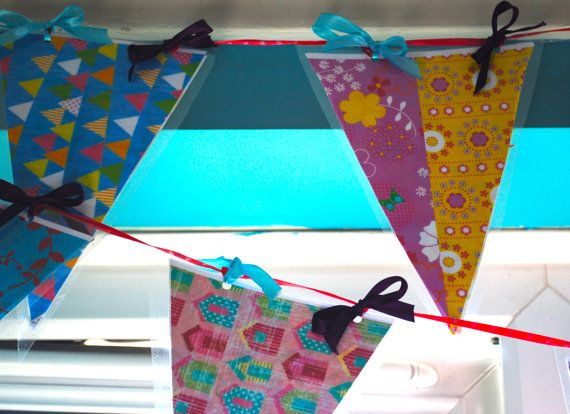 laminated Garden or kitchen bathroom bunting by CabbagePatchCards, £14.99