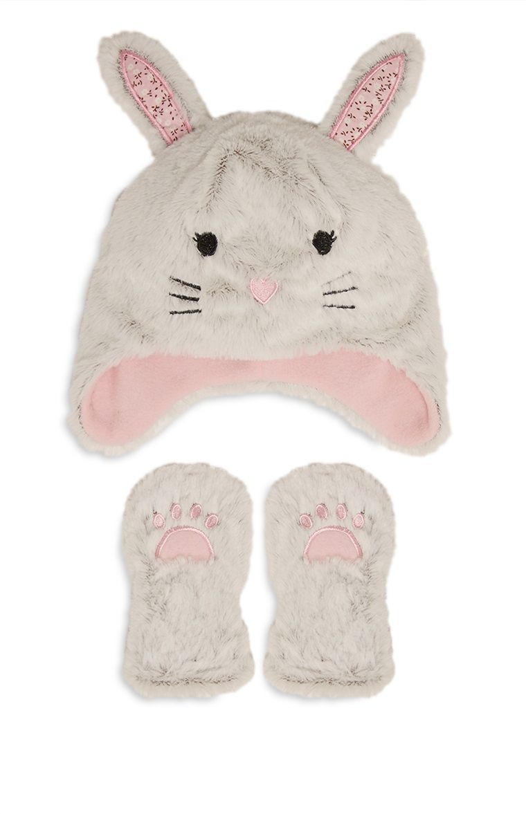 7e818bb14bd Primark - Bunny Hat And Mitten Set