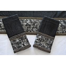 sherry kline its a croc black decorative 3 piece towel set by sherry kline - Decorative Hand Towels