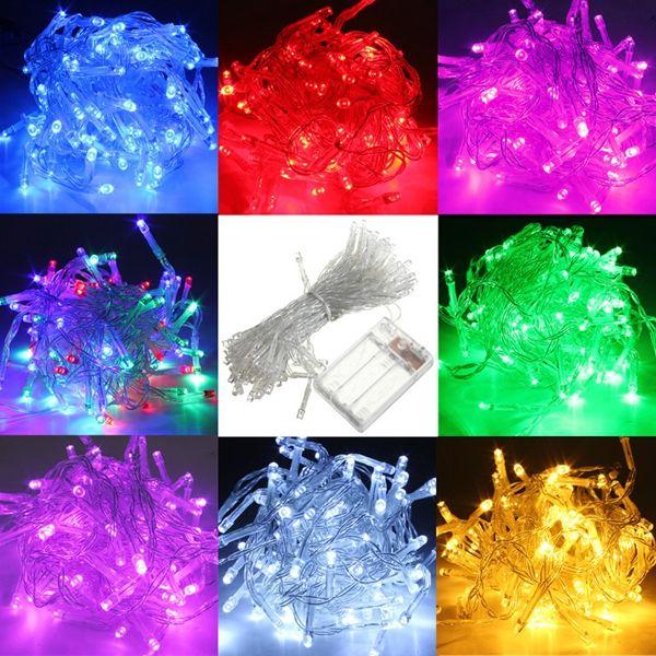 10M Battery Powered 100 LED Starry Fairy String Light Lamp Wedding