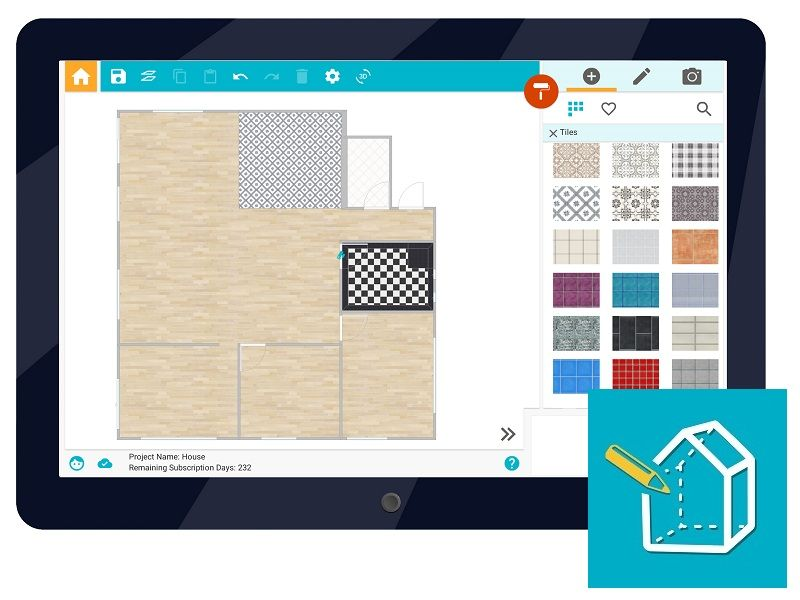 Roomsketcher Home Designer Is Now Available For Android Tablet Work Online Offline Draw Floor Plans Anywh Floor Plan App Create Floor Plan Home Improvement