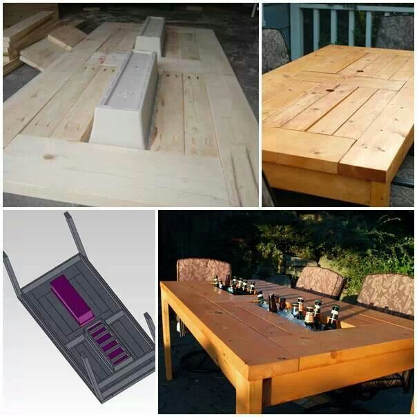 diy outdoor table with cooler. How To Build A DIY Patio Table With Built In Beverage Cooler Step By Tutorial Instructions Diy Outdoor
