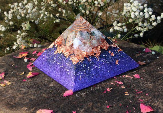 Iza Purple Orgonite Pyramid ~ For Spiritual Balance