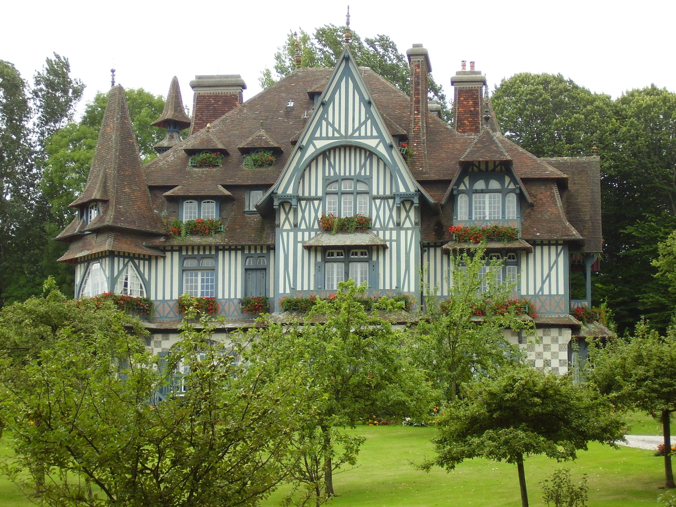Vintage French Norman Architecture The Villa Strassburger A Manor Style Timber Framed House In Deauville France