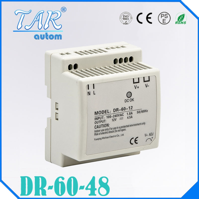 27.75$  Watch here - http://alibwu.shopchina.info/go.php?t=32668976441 - Reliable performance top quality low price 1.25amp 60watt LP-60-48 single output Din Rail mounting 48v switching power supply 27.75$ #aliexpress