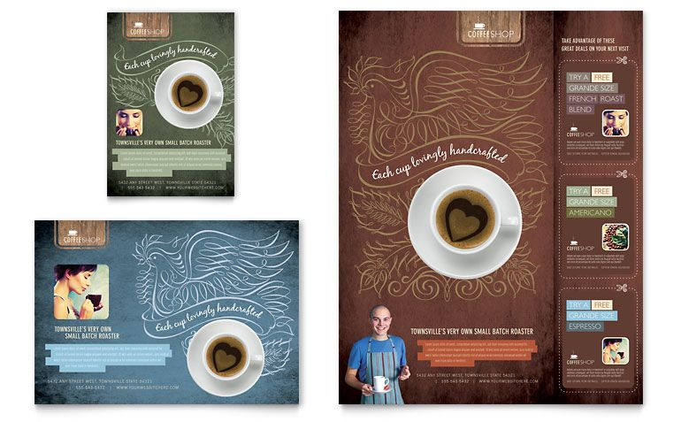 Coffee Shop Flyer  Ad Template Design  Adverts    Coffee